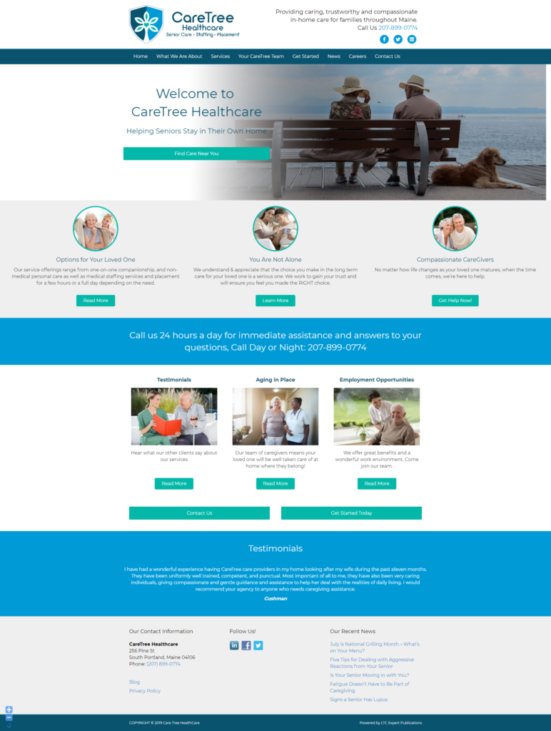 SEnior Care Website 3