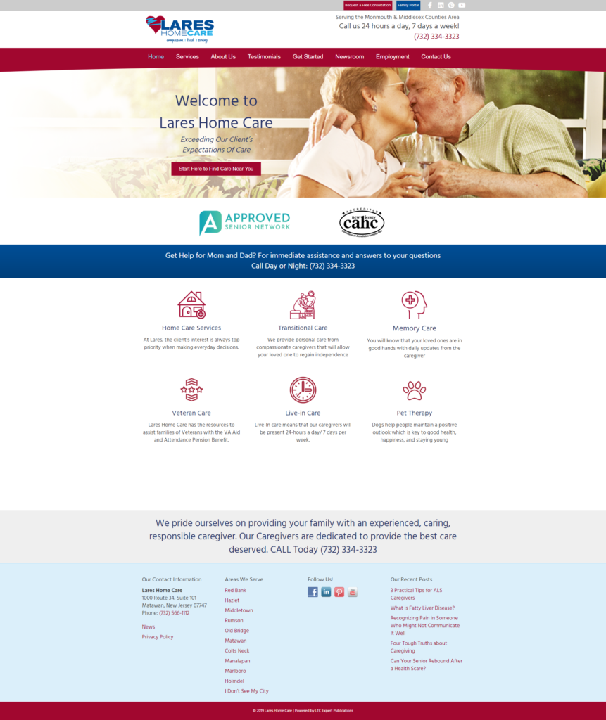 Sample Home Care Website